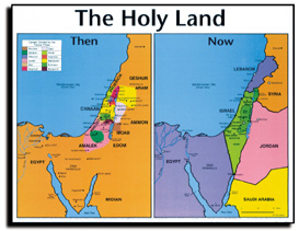 Clipart holy land map.