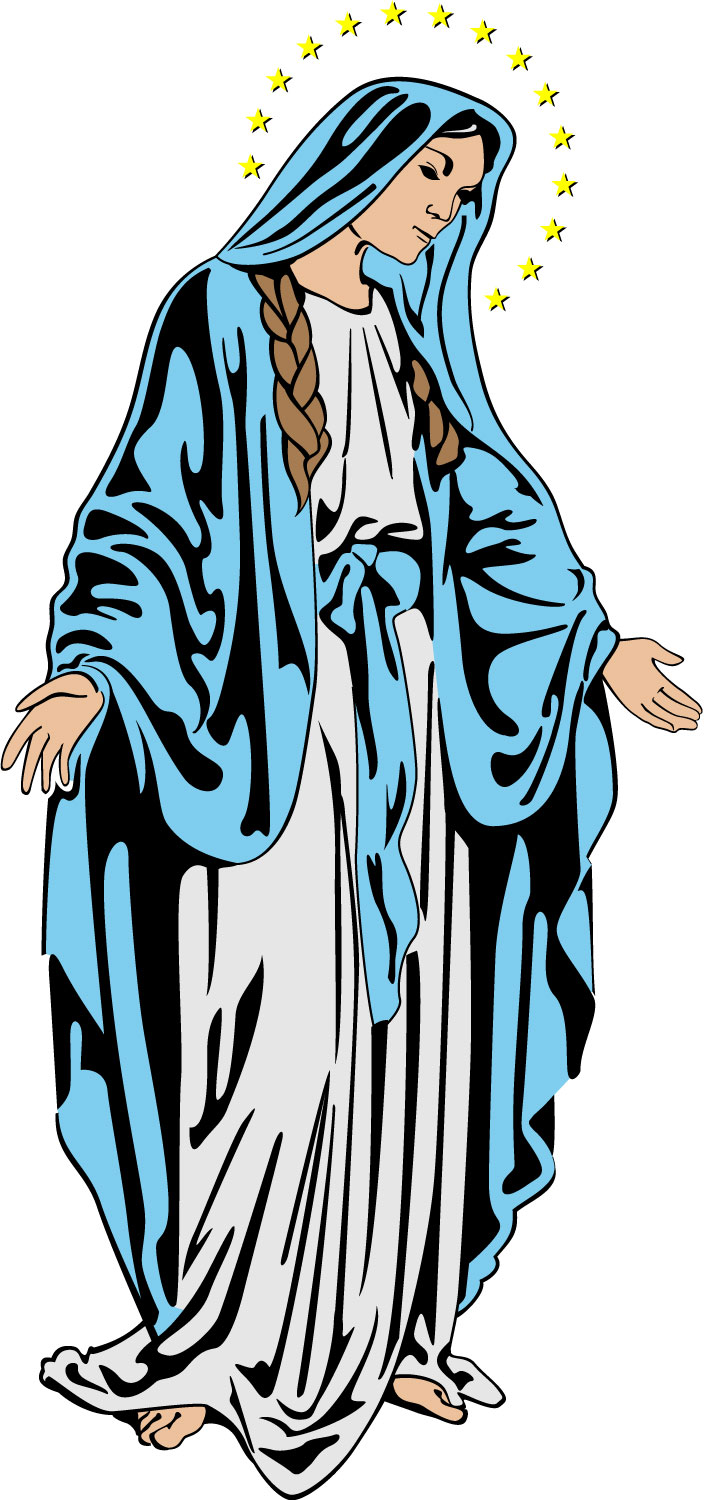 MOTHER MARY CLIP ART.