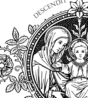 Clipart of mother mary and holy family.