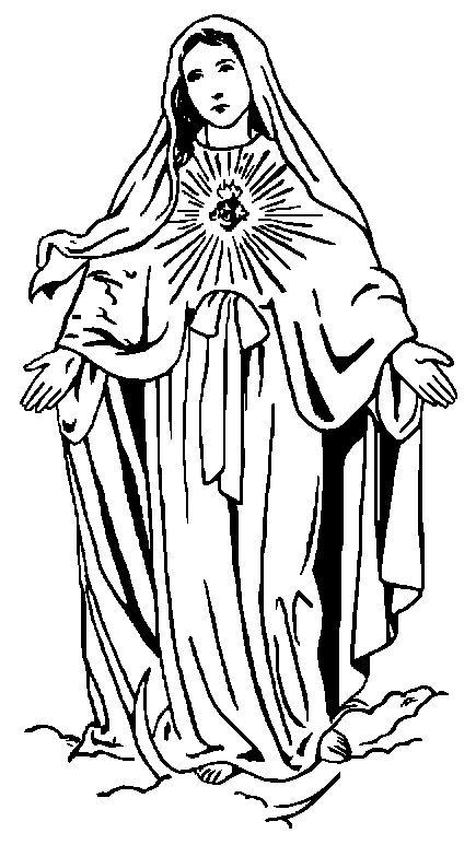 Holy Virgin Mary Clip Art.
