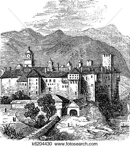 Mount athos clipart #7