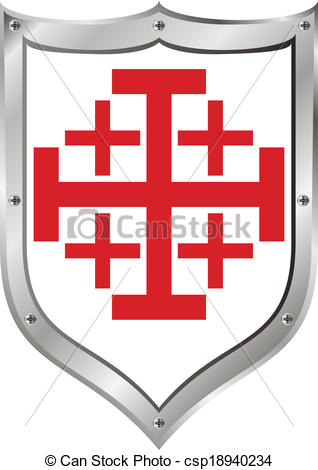 Vectors of Shield of Order of the Holy Sepulchre of Jerusalem.