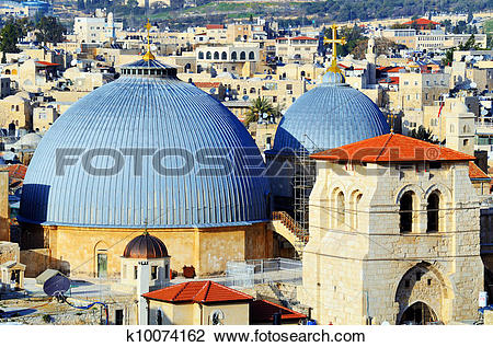 Stock Photo of Church of the Holy Sepulchre k10074162.