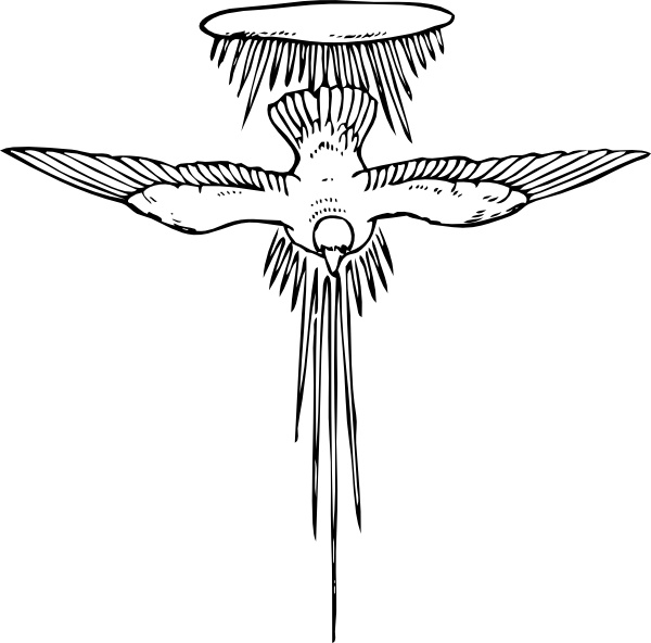 Holy Spirit clip art Free vector in Open office drawing svg.
