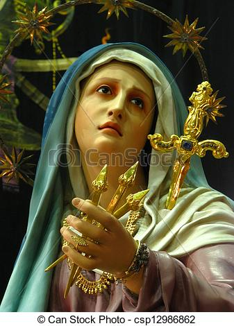 Stock Image of Our Holy Sorrowful Mother.
