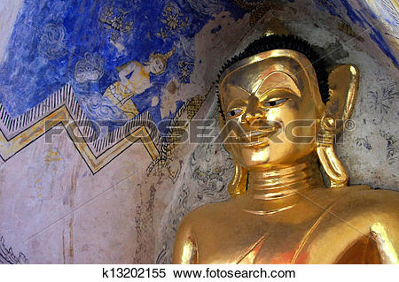 Stock Image of Buddha statue. in holy places of Buddhism.