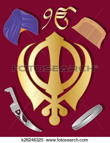Clipart of sikh holy symbol k26246325.