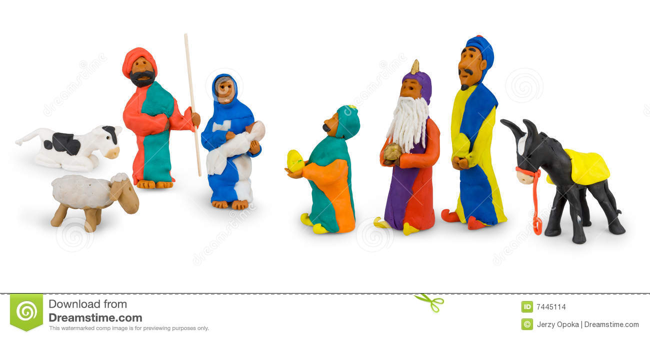 Holy Family And Three Kings Stock Images.