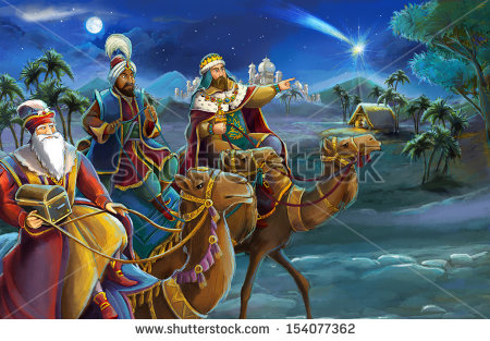 Three Kings Stock Photos, Royalty.
