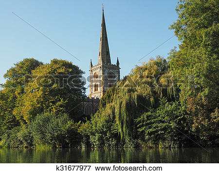 Picture of Holy Trinity church in Stratford upon Avon k31677977.