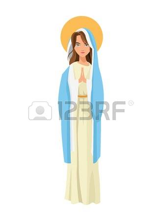 1,342 Holy Virgin Mary Stock Vector Illustration And Royalty Free.