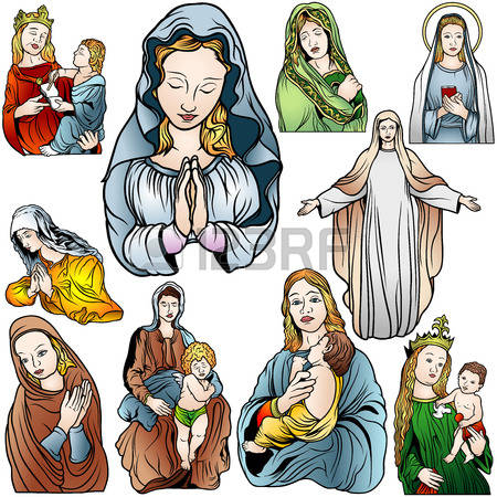1,602 Holy Virgin Mary Stock Vector Illustration And Royalty Free.