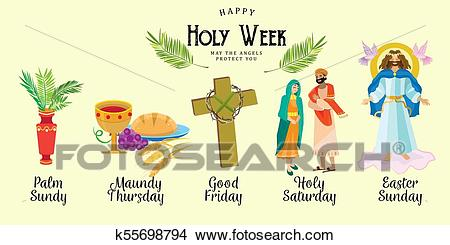 Set for Christianity holy week before easter, Lent and Palm or Passion  Sunday, Good Friday crucifixion of Jesus and his death, Stations of Cross,  God.