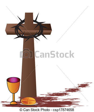 Clipart Vector of Holy Communion.