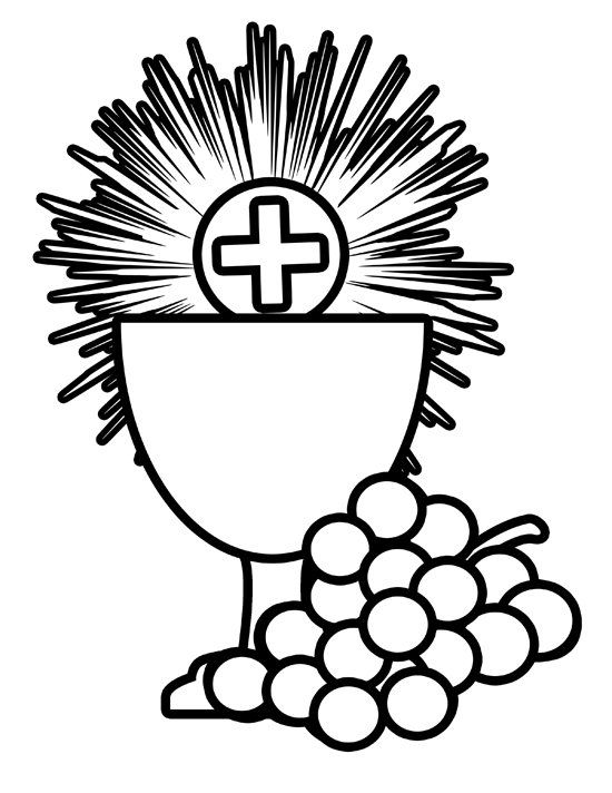Free Holy Communion Coloring Image ~ use for fi.