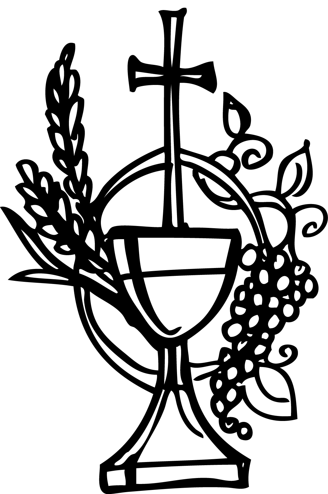 Bread And Wine Clipart.