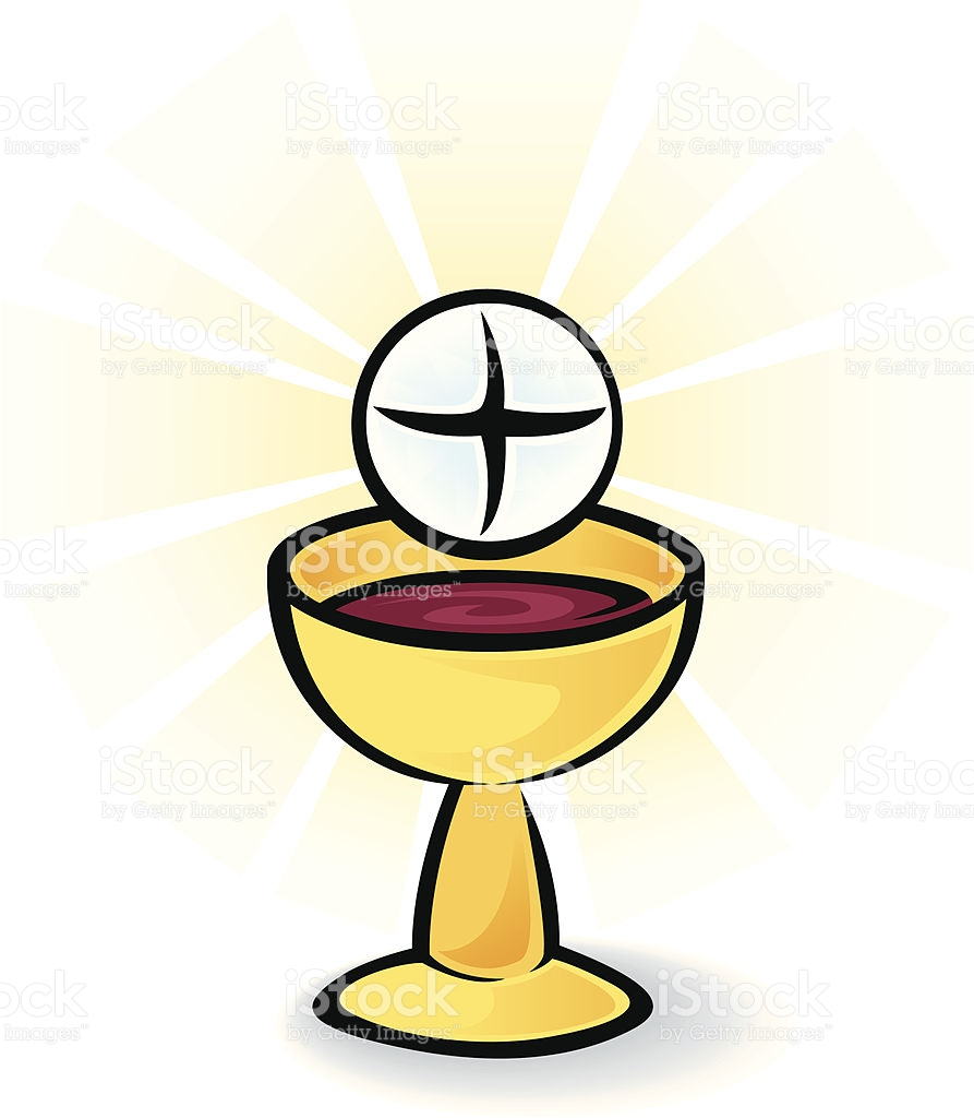 Holy Communion Bread And Wine stock vector art 165633606.