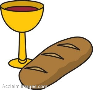Bread and wine clip art.