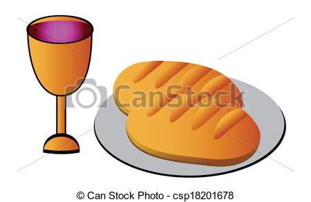 Vectors Illustration of Holy Communion.