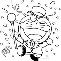 Doraemon Fishing Printable Coloring Pages For Kids Www..