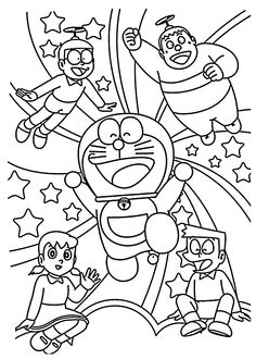 doraemon pictures for coloring.