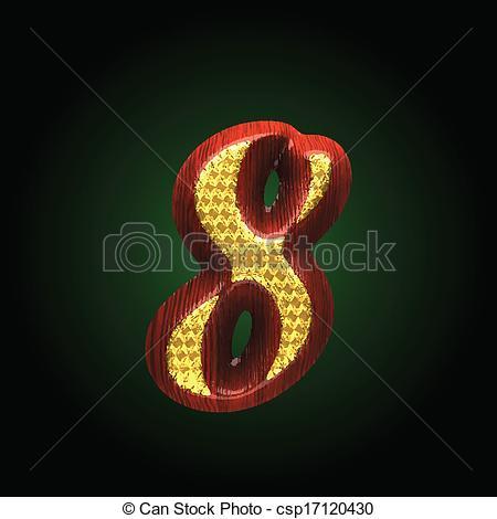 Vektoren von goldenes, vektor, Holz, figur, rotes.