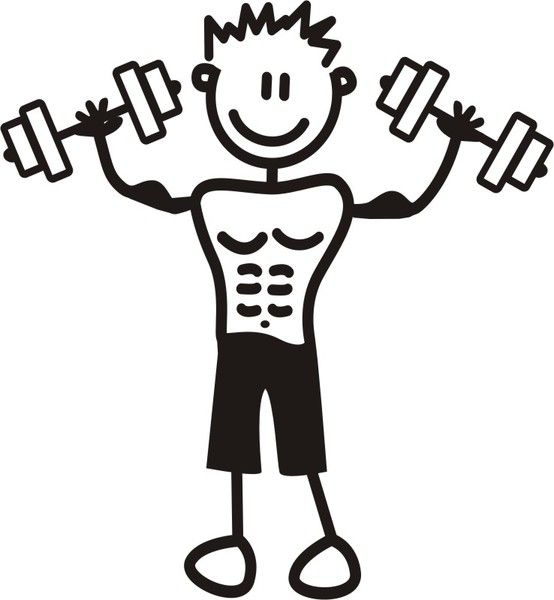 Hombre Joven Musculoso.