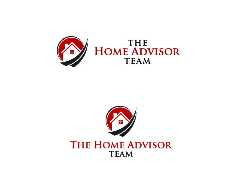 Elegant, Colorful, Real Estate Logo Design for The Home.