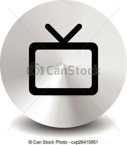 Clipart Vector of Modern icon with television symbol with antenna.