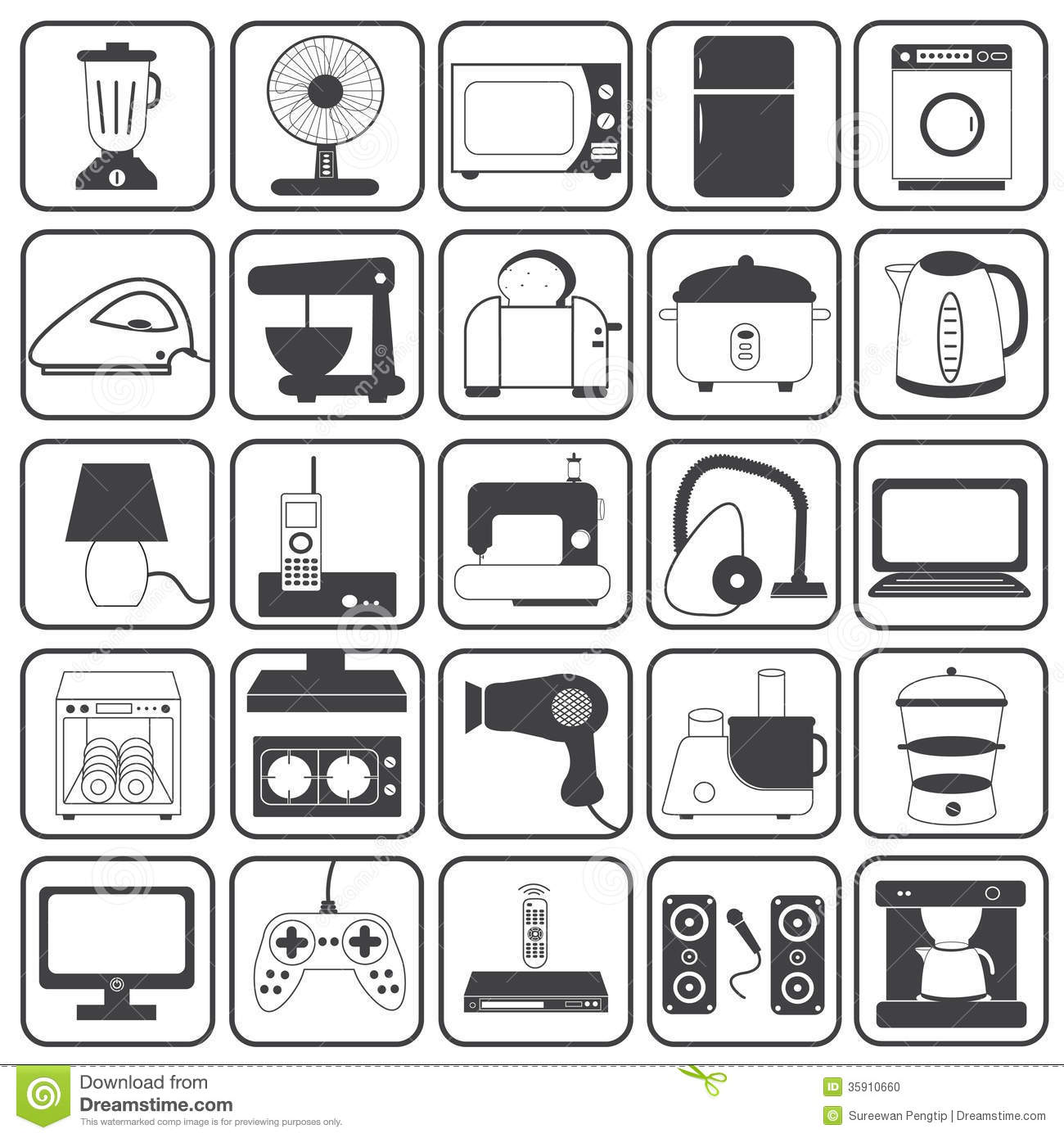 Home Appliances Clipart Free Download