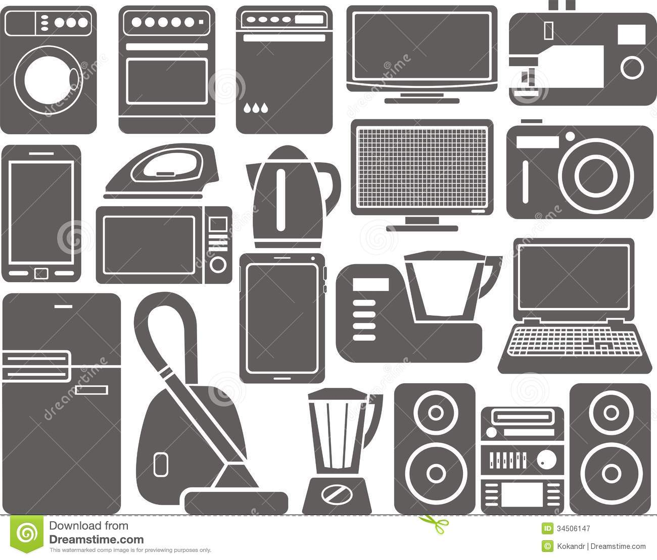 Home Appliances Royalty Free Stock Photography.