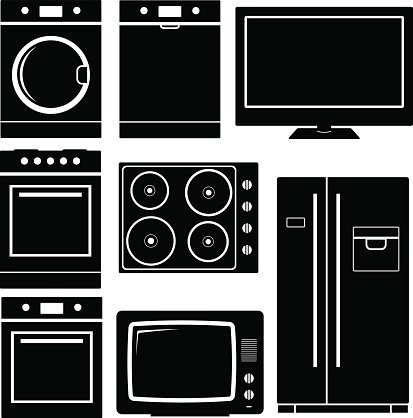 Household icon. Home Appliances icon Clipart Image.