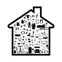 Home Appliances Icon Stock Vector.