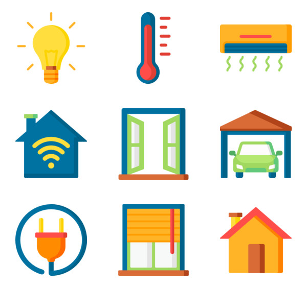 Home automation domotic Icons.
