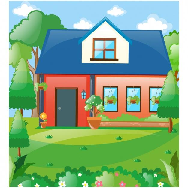 House background design Vector.