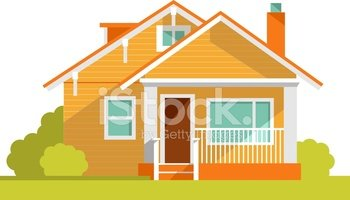 Architecture Background With Family House stock vectors.