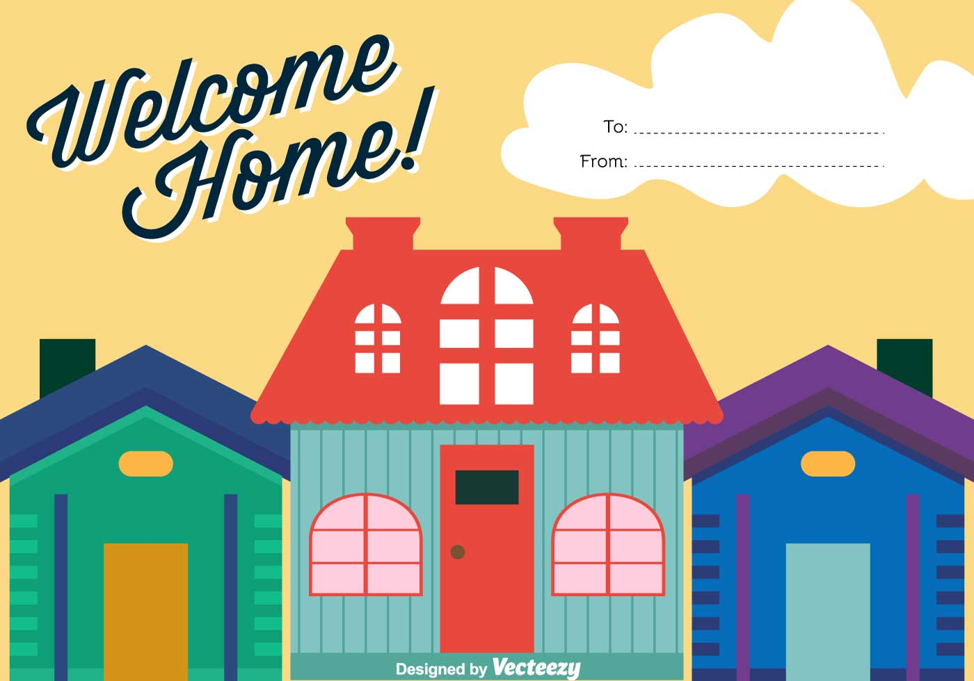 Welcome Home Vector Background.