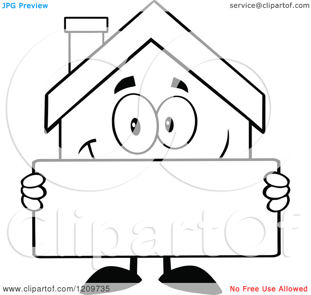 Home Clipart Black And White.