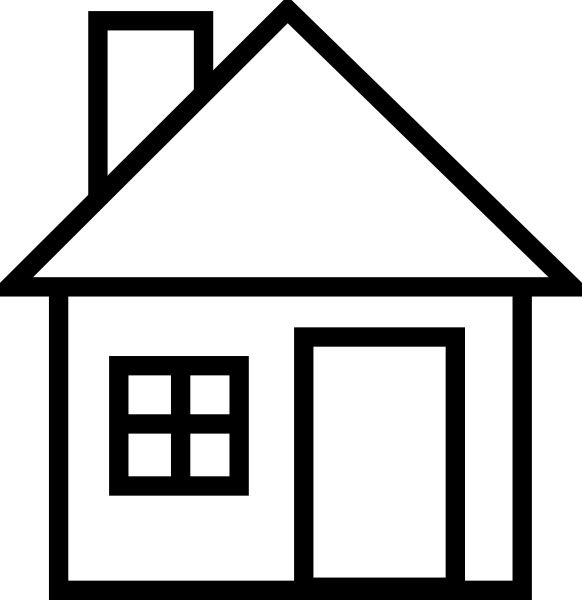Construction House Clip Art Black And White.