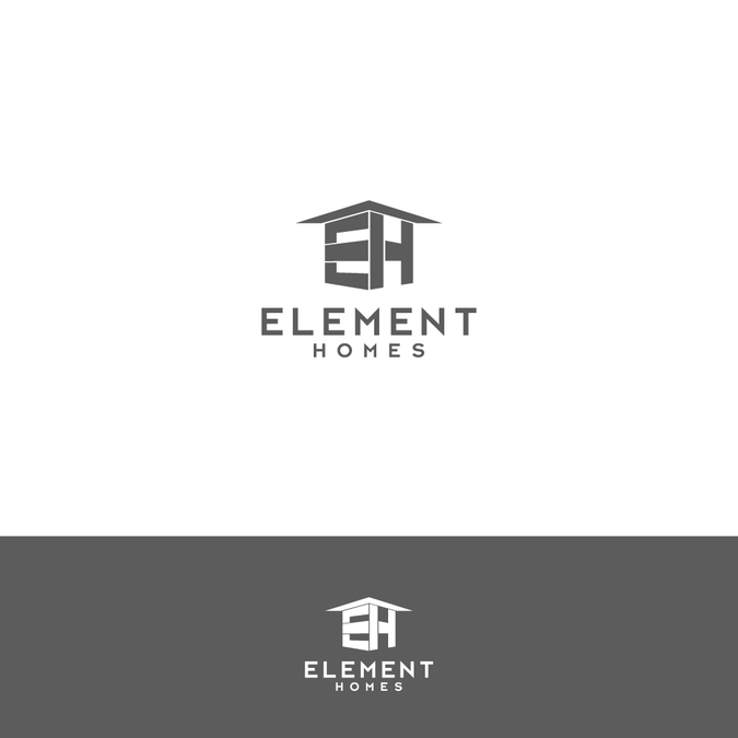 Modern/Contemporary home builder logo by aphdesigns.