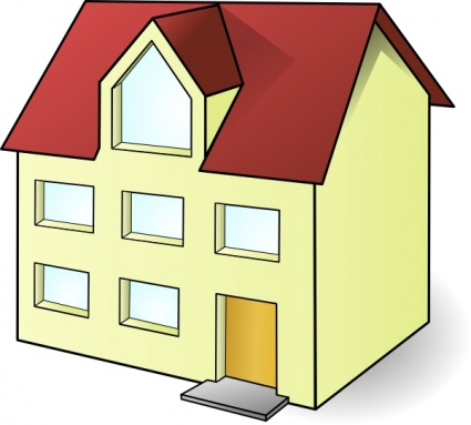 Simple house clipart building.