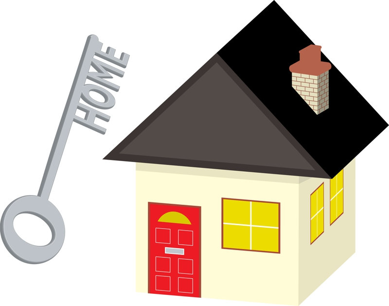 Buying a home clipart.