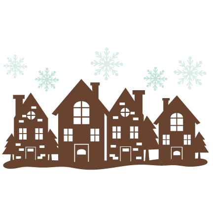 Christmas House Border SVG cutting files free svg cuts.