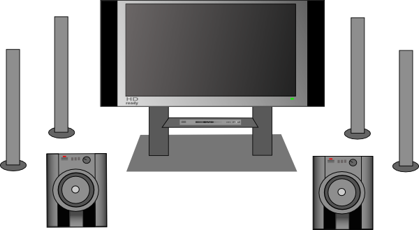Home Theater Clipart.