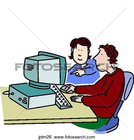 Stock Illustration of Home Computer jptm26.