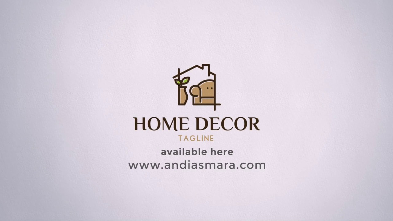 Home Decor Logo Template.
