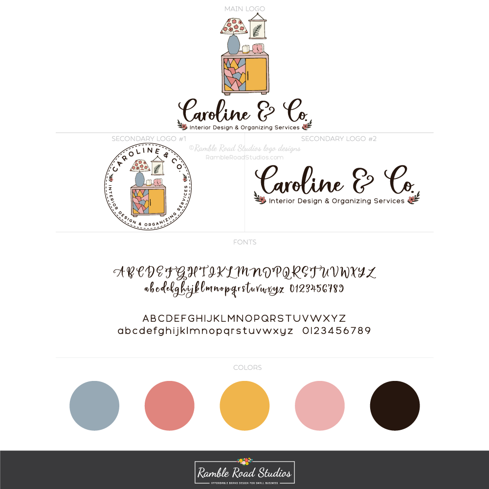 Home Decor Premade Logo Design Package.