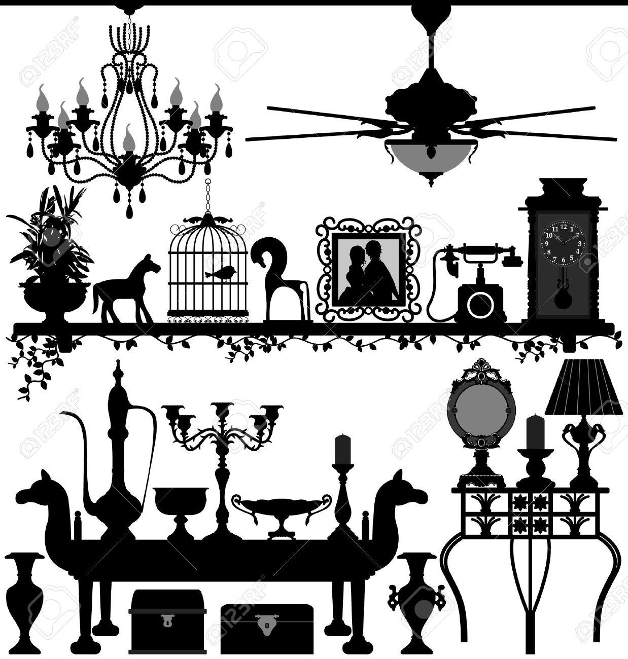Antique Home Decoration Furniture Interior Design Ancient Old.