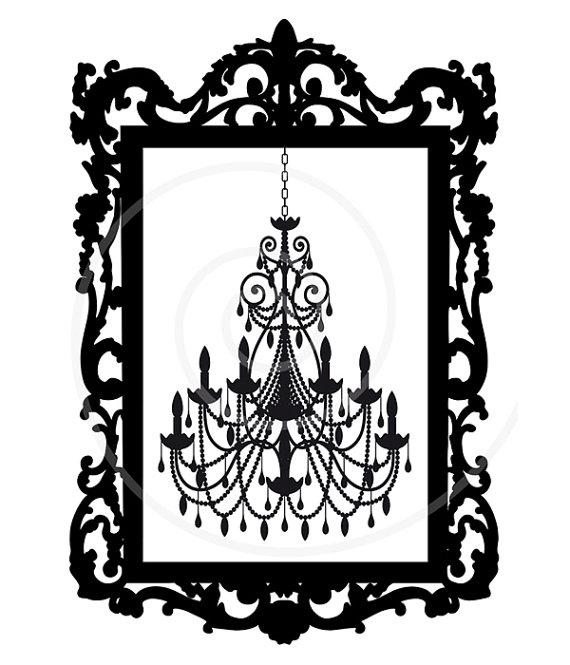 clipart chandelier decor antique frame clip silhouette digital vector etsy illustration decorating clipartpanda printable crystal clipground background interior ornament presentations