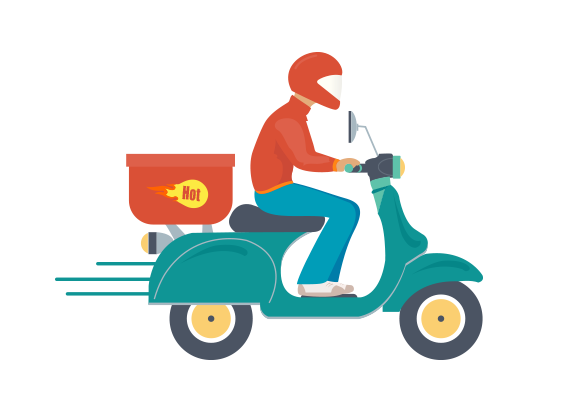 Free home delivery png clipart images.